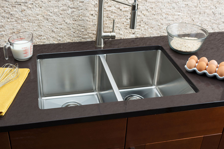hahn small radius large equal double bowl sink