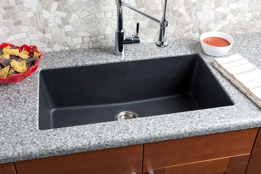 Composite Granite Sinks Are Made Of A Mixture Of Granite Particles And  Acrylic Resin, Combined To Create An Extremely Durable Sink With The Look  And Feel Of ...